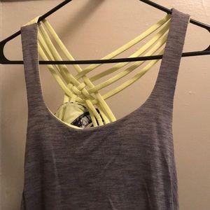 Lulu lemon open back tank with built in bra